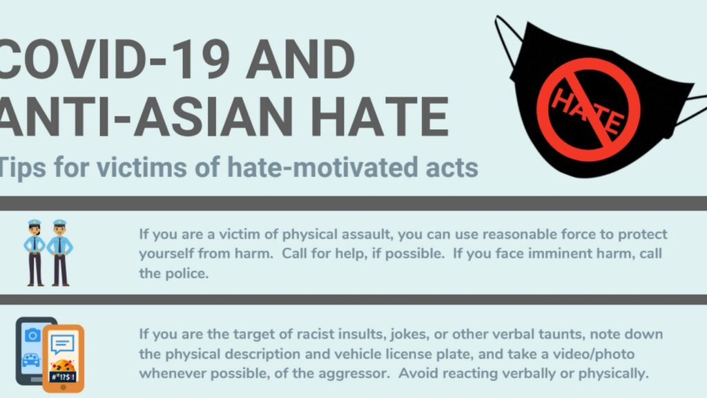 What to do after if you became an unfortunate victim of a COVID-19 racist act